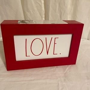 Rae Dunn red box with Love